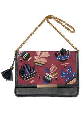 Burgundy Port of Call Clutch by Lizzie Fortunato