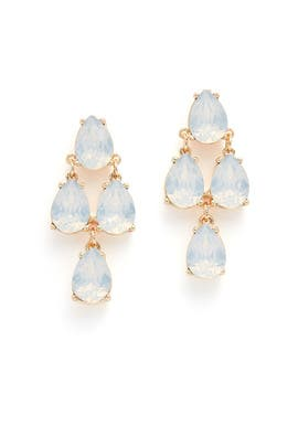 Blue Tiered Drop Earrings by Slate & Willow Accessories
