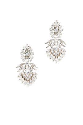 Crystal Clip Earrings by Ben-Amun