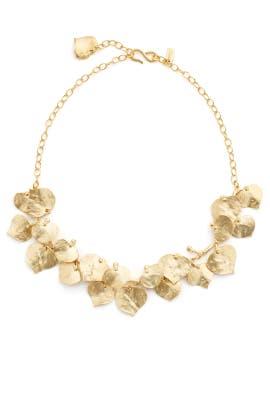Golden Leaf Necklace by Kenneth Jay Lane