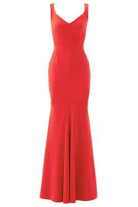 Red Whitney Gown by La Petite Robe di Chiara Boni
