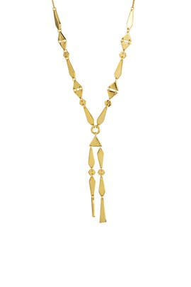 Gold Groundwork Necklace by Noir Jewelry