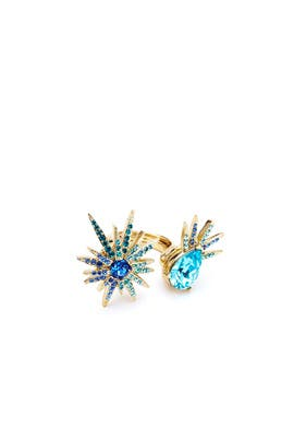 Blue Celestial Star Ring by Oscar de la Renta