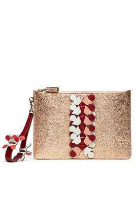 Metallic Prism Large Pouch Clutch by Anya Hindmarch