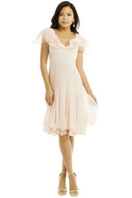 ZAC Zac Posen - Pearl Pink Chiffon Dress
