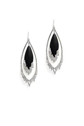 Black Fragmented Orbital Earrings by Alexis Bittar