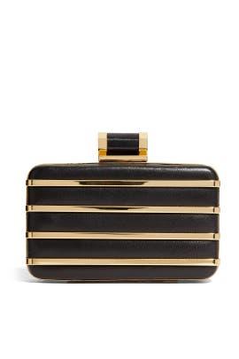Halston Heritage Handbags - Gold Bar Minaudiere