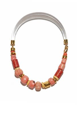 Carved Coral Collar by Lizzie Fortunato