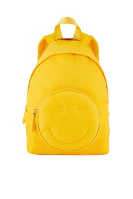 Yellow Chubby Wink Backpack by Anya Hindmarch