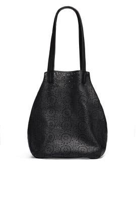 Cutout Black Classic Tote by Cleobella Handbags