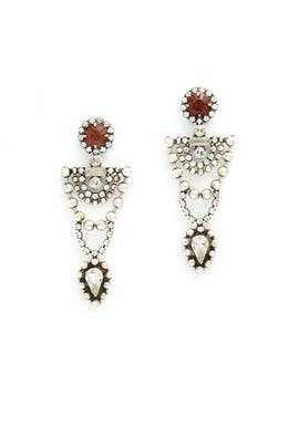 Smoked Topaz Mars Earrings by Dannijo