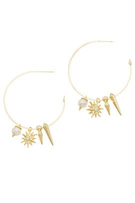 Baroque Pearl Cindy Hoop Earrings by Kendra Scott