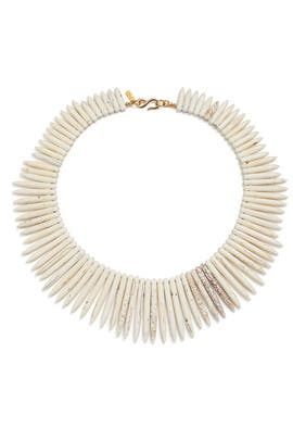 White Candelaria Necklace by Kenneth Jay Lane