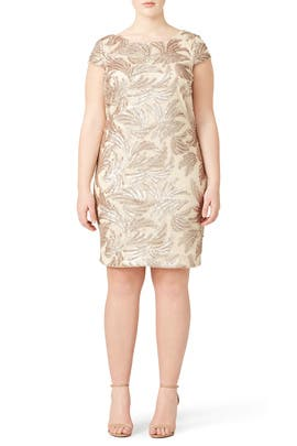 Champagne Sequin Sheath by Adrianna Papell