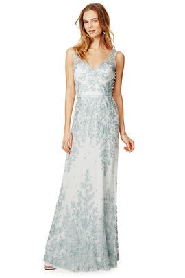 Aqua Amira Gown by CATHERINE DEANE