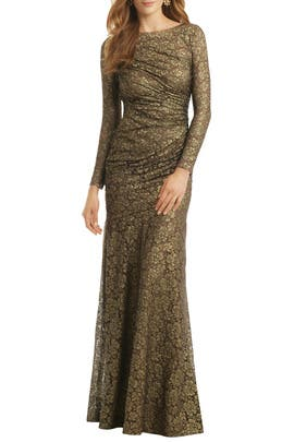 Carmen Marc Valvo - Gold Idol Gown