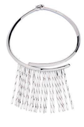 Silver Peaked Fringe Collar by Eddie Borgo
