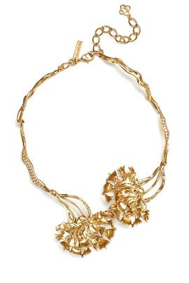 Light Gold Carnation Necklace by Oscar de la Renta