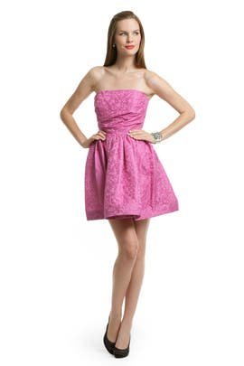 Shoshanna - Pink Digital Skirt Dress