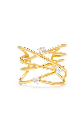 Gold Swirl Cuff by Sarah Magid