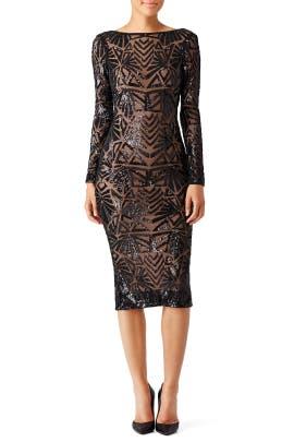 Dress The Population - Black Emery Dress
