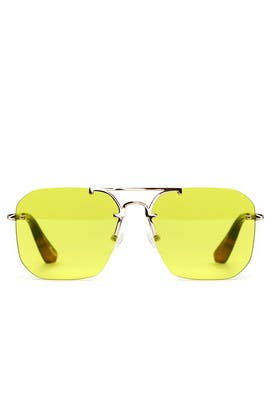 Yellow Mason Sunglasses by Elizabeth and James Accessories