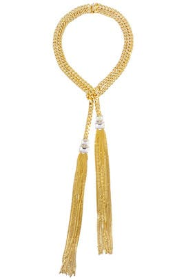Janis Savitt - Gold Lariat Necklace