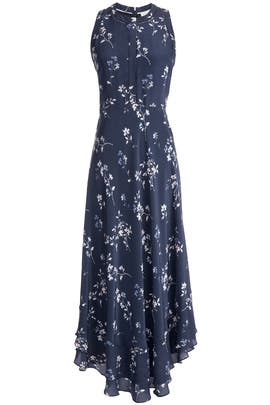 Rebecca Taylor Rosemary Flame Maxi Dress