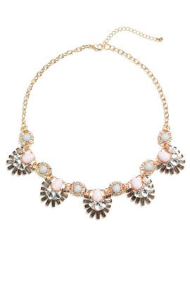 Floral Stud Chain Necklace by Slate & Willow Accessories