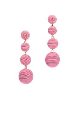 Pink Wrap Drop Earrings by Kenneth Jay Lane