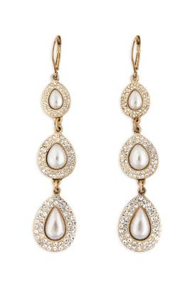 Nicole Miller Accessories - Teardrop Pearl Earrings