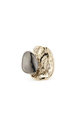 Gunmetal Plated Ring by Alexis Bittar