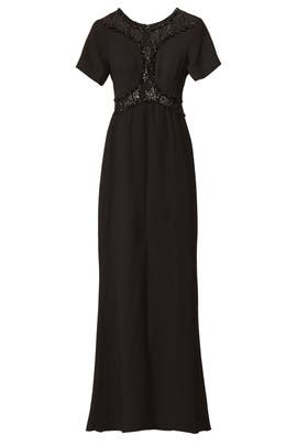 Cut to Black Gown by Badgley Mischka