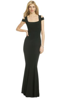 Jet Cutout Gown by Narciso Rodriguez
