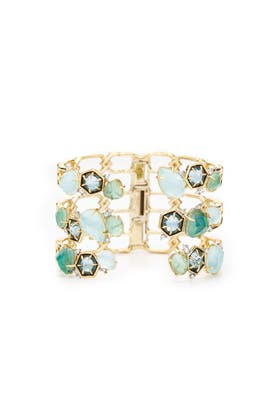 Mosaic Bypass Hinge Cuff by Alexis Bittar