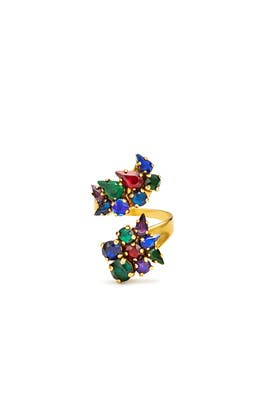 Hyperdrive Jewel Wrap Ring by Erickson Beamon
