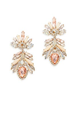 Petunia Stone Drop Earrings by Marchesa Jewelry