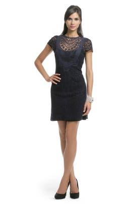 Nanette Lepore - Navy Lace Crew Dress