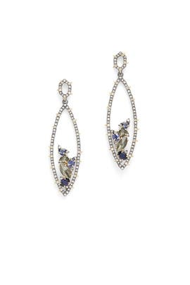 Crystal Encrusted Spike Earrings by Alexis Bittar