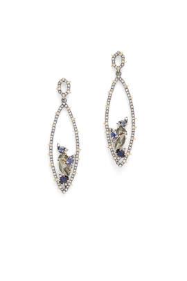 Crystal Encrusted Spike Earrings by Alexis Bittar
