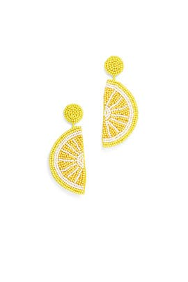 Lemon Slice Earrings by Kenneth Jay Lane