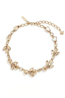 Gold Shadow Teardrop Necklace by Oscar de la Renta