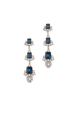 Sapphire Diana Drop Earrings by Ciner