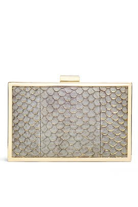Gray Corsica Minaudiere by Inge Christopher