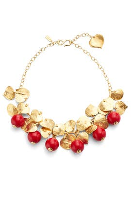 Cherry Drop Necklace by Kenneth Jay Lane