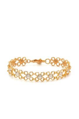 Gold Shimmer Link Bracelet by Ben-Amun
