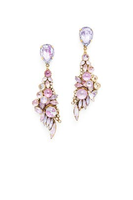 Purple Schism Earrings by Erickson Beamon