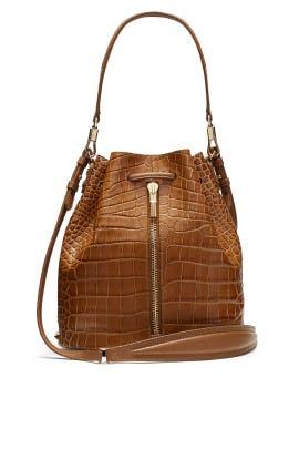 Camel Cynnie Bucket Bag by Elizabeth and James Accessories