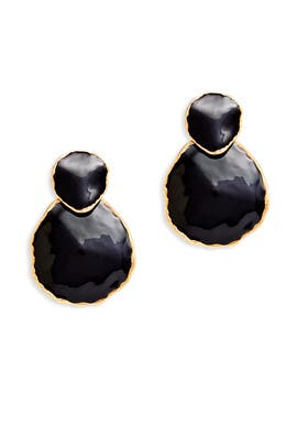 Double Circle Earrings by Oscar de la Renta