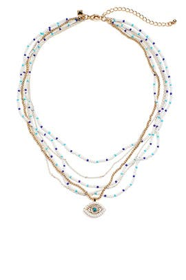 Layered Evil Eye Necklace by Rebecca Minkoff Accessories